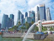 Het Park van Merlion, Singapore Stock Afbeeldingen