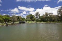 Het park van Oceanfront in Hilo Stock Foto's