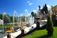 Het park van Petergof in Heilige Petersburg Rusland Royalty-vrije Stock Fotografie