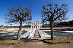 Het park van Peterhof Stock Foto's
