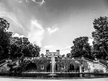 Het park van Potsdam in zwart-wit stock foto's