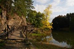 Het park van Pruhonice Stock Foto