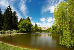 In het park van Pruhonice, Bohemen royalty-vrije stock foto
