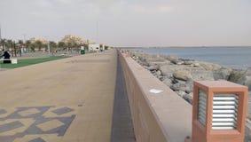 Het park van Ras al Khaimah naast Perzische golf Royalty-vrije Stock Foto's
