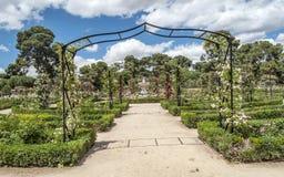 Het Park van Retiro in Madrid stock fotografie