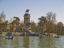 Het park van Retiro´s, Madrid, Spanje Stock Fotografie