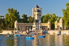 Het park van Retiro van Buen in Madrid royalty-vrije stock afbeelding
