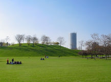 Het park van Rheinaue in Bonn, Duitsland Stock Foto's
