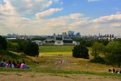 Het park van Roaylgreenwich in de zomer, Londen, Engand stock afbeeldingen