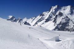 Het park van Snowboard Stock Afbeeldingen