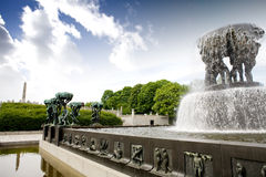 Het Park van Vigeland stock foto's