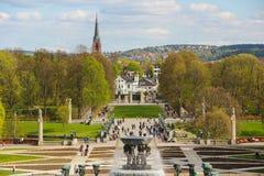 Het park van Vigeland in Oslo, Noorwegen Royalty-vrije Stock Foto's