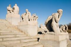 Het Park van Vigeland van Norway.Oslo.The royalty-vrije stock afbeelding