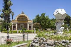 Het park van villagiulia Stock Afbeeldingen
