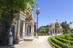 Het park van villagiulia Stock Foto's