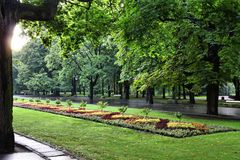 Het park van Warshau Stock Afbeelding