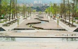 Het park van Yaan China-Sanya na regen stock afbeelding