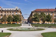 Het park van Zagreb stock afbeelding