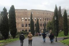 Het Park Vieuw van Colosseumrome Royalty-vrije Stock Fotografie