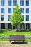 Het parkbank van de stad Royalty-vrije Stock Afbeelding
