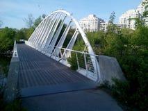 Het Parkbrug van de Waterkant van de Humberbaai Stock Fotografie