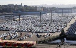 Het Parkeerterrein van de haven Stock Afbeeldingen