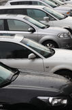 Het parkeerterrein van het voertuig Stock Foto's