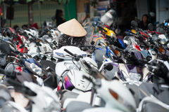 Het parkeerterrein van Vietnam Stock Afbeelding