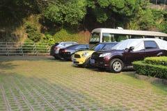 Het parkeerterrein van xiamen hotel Stock Foto's