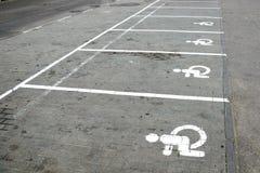 Het parkeren het merken royalty-vrije stock afbeelding