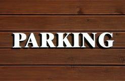 Het parkeren Teken Royalty-vrije Stock Foto's
