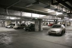 Het parkeren van de auto `s Stock Afbeelding