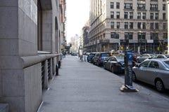 Het parkeren van de Crosstownstraat stock afbeelding