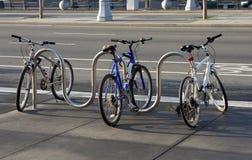 Het Parkeren van de fiets Stock Foto's