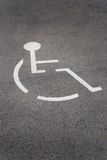 Het parkeren van de handicap Royalty-vrije Stock Afbeeldingen