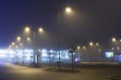 Het parkeren van de nacht Stock Foto's