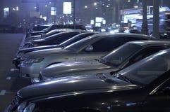 Het parkeren van de nacht Royalty-vrije Stock Foto's