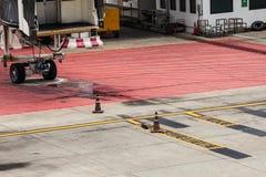 Het parkeren van gebiedsvliegtuigen Stock Foto's