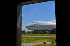 Het parkeren van het restauratievliegtuig in het park Royalty-vrije Stock Afbeelding