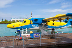 Het parkeren van het watervliegtuig Stock Fotografie