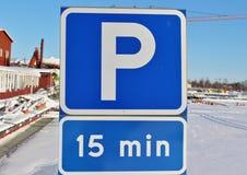 Het parkeren van 15 min Stock Foto's