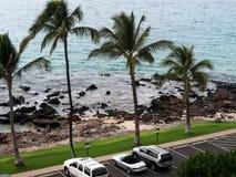 Het parkeren zo dicht aan het strand Stock Afbeeldingen