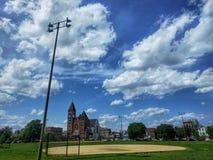 Het parkhonkbalveld van Eckhart Stock Foto
