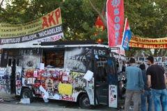 HET PARKweerstand VAN TAKSIM GEZI, ISTANBOEL. Royalty-vrije Stock Afbeeldingen