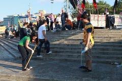 HET PARKweerstand VAN TAKSIM GEZI, ISTANBOEL. Royalty-vrije Stock Afbeelding