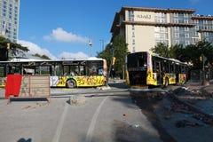 HET PARKweerstand VAN TAKSIM GEZI, ISTANBOEL Stock Foto's