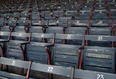 Het parkzetels van het honkbal stock foto