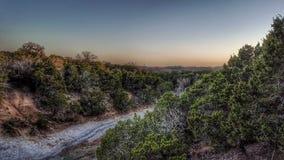Het parkzonsondergang van de staat van Texas royalty-vrije stock afbeelding