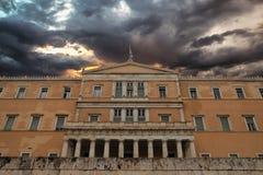 Het Parlement in Athene Griekenland Royalty-vrije Stock Afbeeldingen