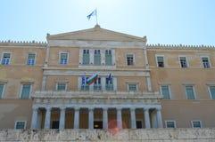 Het Parlement in Athene, Griekenland op 23 Juni, 2017 Stock Foto's